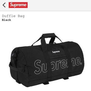 Supreme duffle bag (fw18) Black